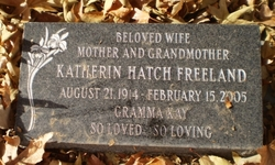 Katherin <I>Hatch</I> Freeland