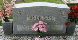 Mary Maxie <I>McCall</I> Anderson