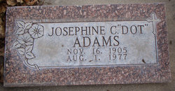 "Josephine ""Dot"" <I>Holland</I> Adams"