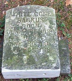 Caroline White <I>Cone</I> Backus