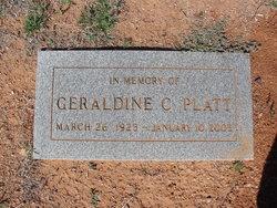 "Geraldine Cathern ""Gerry"" <I>Hiatt</I> Platt"