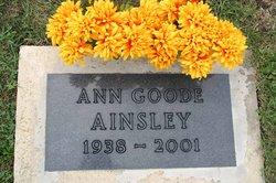 Ann <I>Goode</I> Ainsley