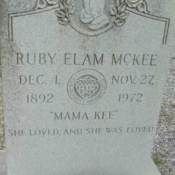 Ruby Elois <I>Elam</I> McKee