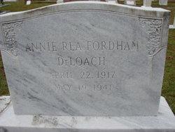Annie Rea <I>Fordham</I> Deloach