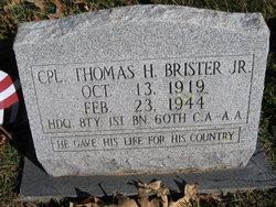 "CPL Thomas Harvey ""Brother"" Brister Jr."