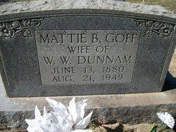 Martha Belle <I>Goff</I> Dunnam