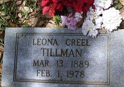 Leona <I>Creel</I> Tillman