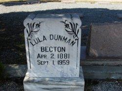 Lula <I>Dunman</I> Becton