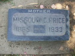 Missouri Catherine <I>Ellenburg</I> Price