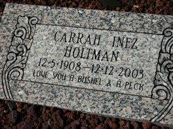 carrah inez <I>lassiter</I> holtman