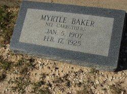 Myrtle <I>Carruthers</I> Baker