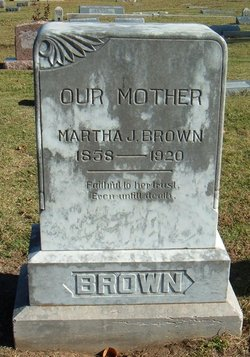 Martha Josephine <I>Johnson</I> Brown