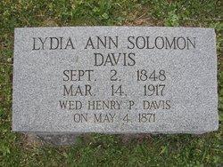 Lydia Ann <I>Solomon</I> Davis