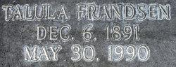 Talula Johanna <I>Frandsen</I> Nelson