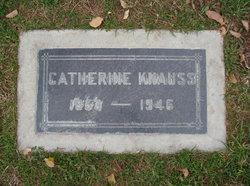 "Catherine Abigail ""Kate"" <I>Hillman</I> Knauss"