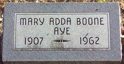 Mary Adda <I>Boone</I> Aye