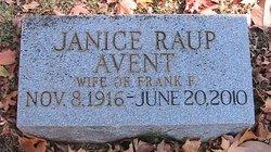 Janice <I>Raup</I> Avent