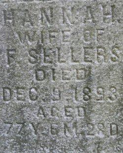 Mrs Hannah <I>Shidler</I> Sellers