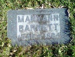 Mary Ann <I>Kelly</I> Barnett