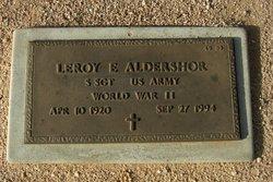 Leroy E Aldershor