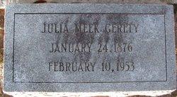 Mrs Julia Adair <I>Meek</I> Gerety