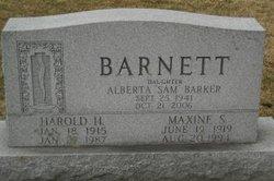 """Alberta """"Sam"""" <I>Barnett</I> Barker"""