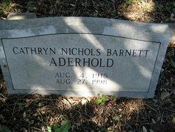 Cathryn <I>Nichols</I> Aderhold