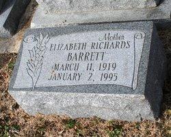 Elizabeth <I>Richards</I> Barrett