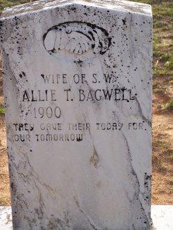 """Alice """"Allie"""" <I>Barnes</I> Bagwell"""