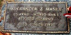 Alexander Z Maney