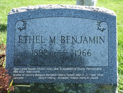 Ethel M <I>Colburn</I> Benjamin