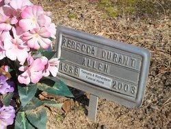 Rebecca <I>Durant</I> Allen