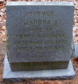 Martha A <I>Holmes</I> Goodman