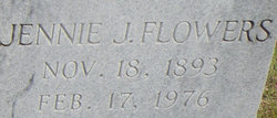 Jennie <I>Jones</I> Flowers
