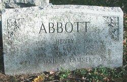 Mary Ella <I>Gilbert</I> Abbott