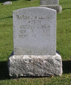 Sarah Jane <I>Williams</I> Bowen