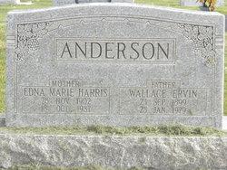 Edna Marie <I>Harris</I> Anderson