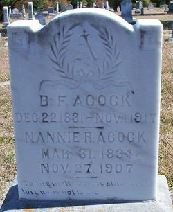 "Nancy Rachel ""Nannie"" <I>Pendleton</I> Acock"