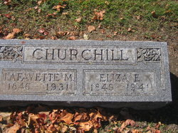 Eliza Esther <I>Pratt</I> Churchill