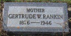Gertrude W Rankin