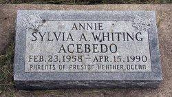 Annie Sylvia A. <I>Whiting</I> Acebedo