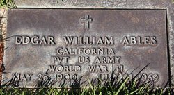 PVT Edgar William Ables