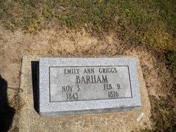 Emily Ann <I>Dwiggins</I> Barham