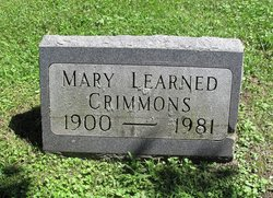 Mary <I>Learned</I> Crimmons