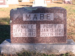 Jennie Elizabeth <I>Magers</I> Mabe