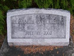 """Elizabeth """"Libby"""" <I>Barber</I> McKeehan"""