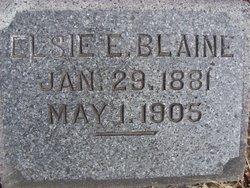 Elsie E. <I>Fleming</I> Blaine
