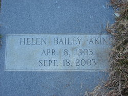 "Helen ""Tincy"" <I>Bailey</I> Akins"