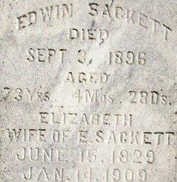 Elizabeth <I>Hall</I> Sackett