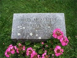 "Mary Ann ""Mae"" <I>McAuliffe</I> Browne"